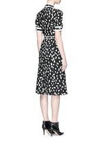 'Ella' flocked polka dot belted shirt dress