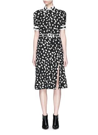 首图 - 点击放大 - ALTUZARRA - ELLA波点图案腰带高衩连衣裙
