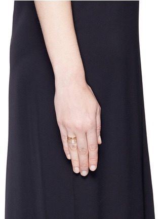 Figure View - Click To Enlarge - REPOSSI - 'Berbère' diamond pavé 18k rose gold two row ring