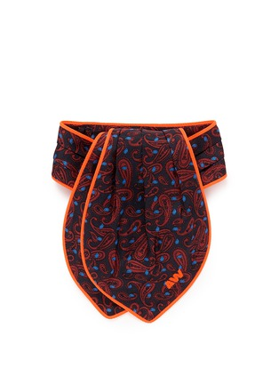 Main View - Click To Enlarge - Alexander Wang  - Paisley print pleat silk ascot tie
