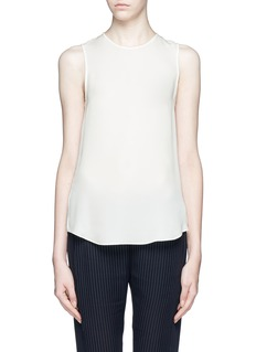 THEORY Bringam 'silk georgette sleeveless blouse