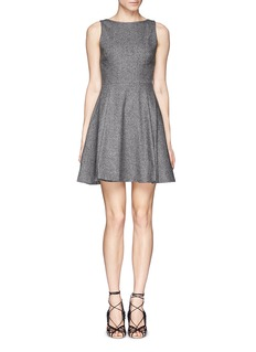 ALICE + OLIVIA'Jorah' open back box pleat dress