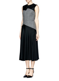 3.1 PHILLIP LIM 'Luna' plaid panel basket weave dress