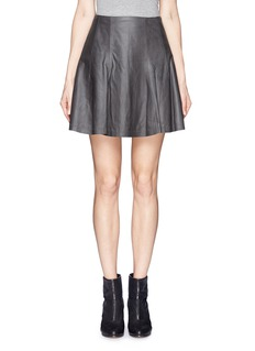 ALICE + OLIVIA'Pharl' lamb leather skirt