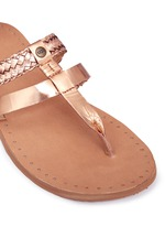 'Audra' metallic braided leather combo sandals