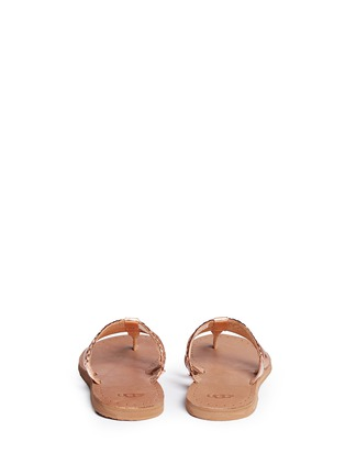 Back View - Click To Enlarge - Ugg Australia - 'Audra' metallic braided leather combo sandals