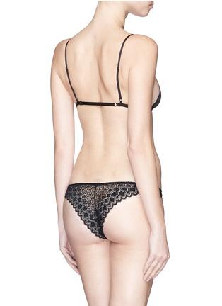Back View - Click To Enlarge - Kiki De Montparnasse - 'Paon' crochet lace soft triangle bra