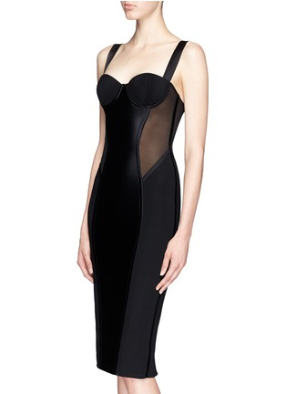 Kiki De Montparnasse - 'Expose' tulle silk bodycon slip dress
