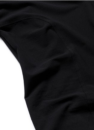 Detail View - Click To Enlarge - Kiki De Montparnasse - Backless long sleeve T-strap bodysuit
