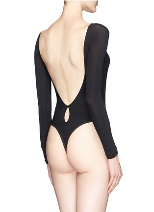 Back View - Click To Enlarge - Kiki De Montparnasse - Backless long sleeve T-strap bodysuit