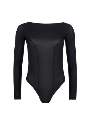 Main View - Click To Enlarge - Kiki De Montparnasse - Backless long sleeve T-strap bodysuit