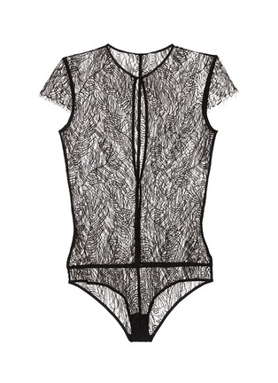 Main View - Click To Enlarge - Kiki De Montparnasse - 'Enchante' split front lace bodysuit