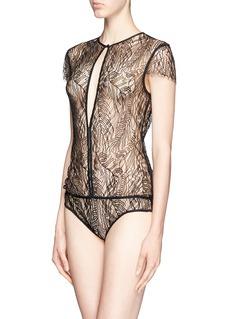 KIKI DE MONTPARNASSE'Enchante' split front lace bodysuit
