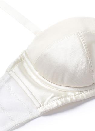 Detail View - Click To Enlarge - Kiki De Montparnasse - 'Muse' tulle silk charmeuse moulded bra