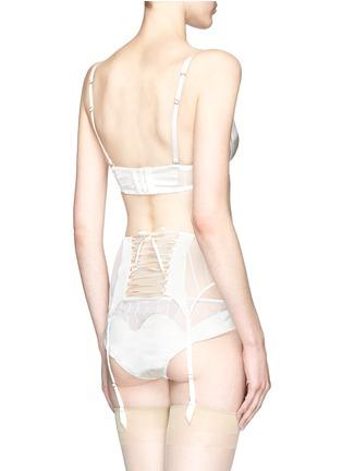 Back View - Click To Enlarge - Kiki De Montparnasse - 'Muse' tulle silk charmeuse moulded bra