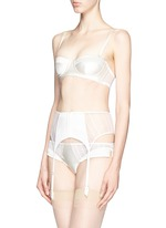 'Muse' tulle silk charmeuse moulded bra