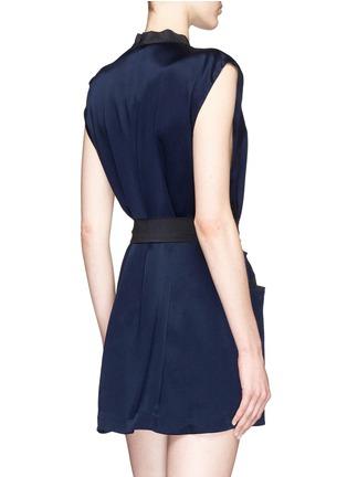 Back View - Click To Enlarge - Kiki De Montparnasse - 'Amour' sleeveless silk robe
