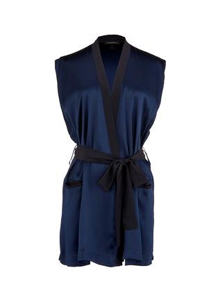 Main View - Click To Enlarge - Kiki De Montparnasse - 'Amour' sleeveless silk robe