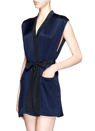 Figure View - Click To Enlarge - Kiki De Montparnasse - 'Amour' sleeveless silk robe