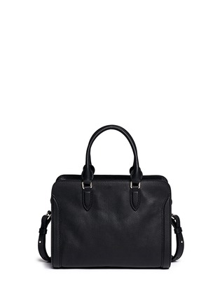 Back View - Click To Enlarge - Alexander McQueen - 'Padlock' small leather tote