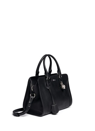 Front View - Click To Enlarge - Alexander McQueen - 'Padlock' small leather tote