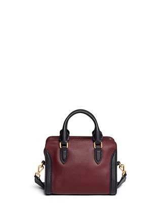 Back View - Click To Enlarge - Alexander McQueen - 'Padlock' mini bicolour leather tote bag