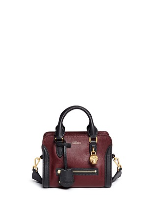 Main View - Click To Enlarge - Alexander McQueen - 'Padlock' mini bicolour leather tote bag