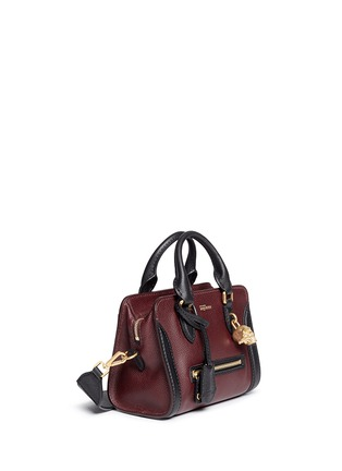 Figure View - Click To Enlarge - Alexander McQueen - 'Padlock' mini bicolour leather tote bag