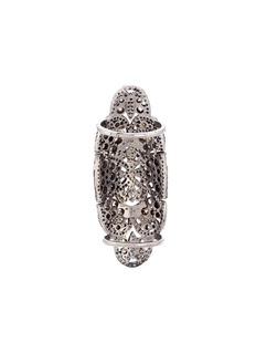 Aishwarya Diamond silver cutout full finger ring