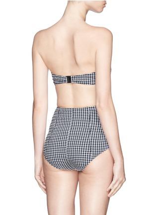 Back View - Click To Enlarge - Lisa Marie Fernandez - 'Poppy' gingham check high waist bikini set