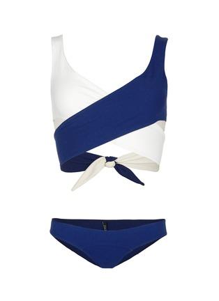 Main View - Click To Enlarge - Lisa Marie Fernandez - 'Marie-Louise' crisscross wrap bikini set