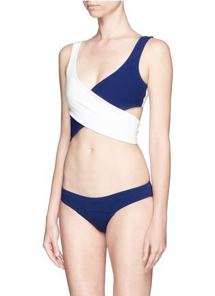 Figure View - Click To Enlarge - Lisa Marie Fernandez - 'Marie-Louise' crisscross wrap bikini set