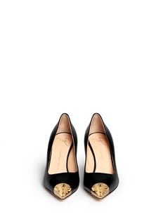 GIUSEPPE ZANOTTI DESIGN 'Yvette' stud toe cap leather pumps