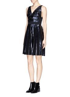 PROENZA SCHOULERFoil print plissé pleat dress