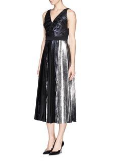 PROENZA SCHOULERFoil print plissé pleat midi dress