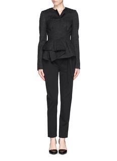 PROENZA SCHOULER'Novelty' asymmetric tie croppped wool pants