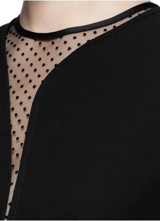 Detail View - Click To Enlarge - Victoria Beckham - Polka dot wavy cutout crepe dress