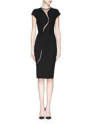 Main View - Click To Enlarge - Victoria Beckham - Polka dot wavy cutout crepe dress