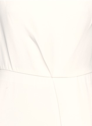 Detail View - Click To Enlarge - Victoria Beckham - Drape open back crepe gown