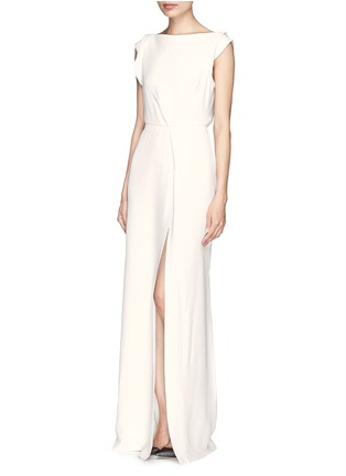 Front View - Click To Enlarge - Victoria Beckham - Drape open back crepe gown