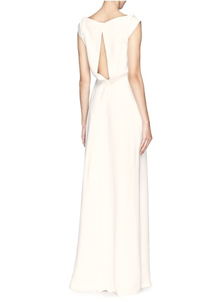 Figure View - Click To Enlarge - Victoria Beckham - Drape open back crepe gown