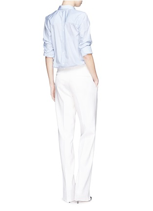 Detail View - Click To Enlarge - Victoria Beckham - Stripe open back cotton shirt