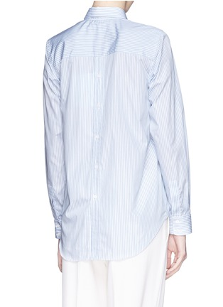 Back View - Click To Enlarge - Victoria Beckham - Stripe open back cotton shirt