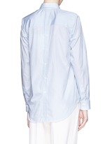 Stripe open back cotton shirt