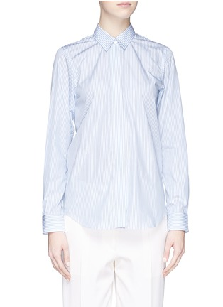 Main View - Click To Enlarge - Victoria Beckham - Stripe open back cotton shirt
