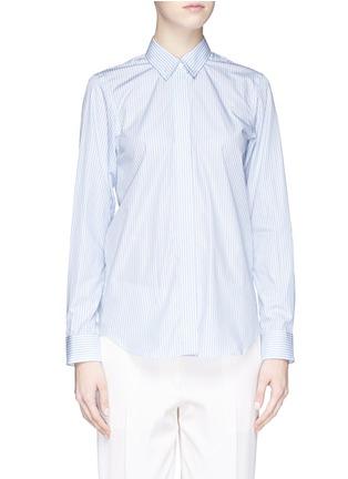 Victoria Beckham-Stripe open back cotton shirt