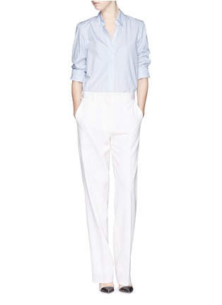 Figure View - Click To Enlarge - Victoria Beckham - Stripe open back cotton shirt