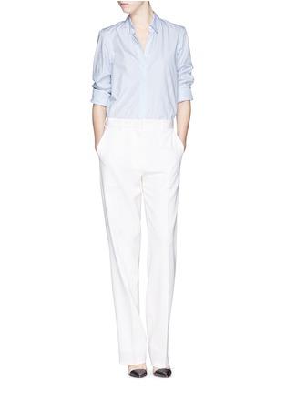 Figure View - Click To Enlarge - Victoria Beckham - Stripe open back cotton shirt