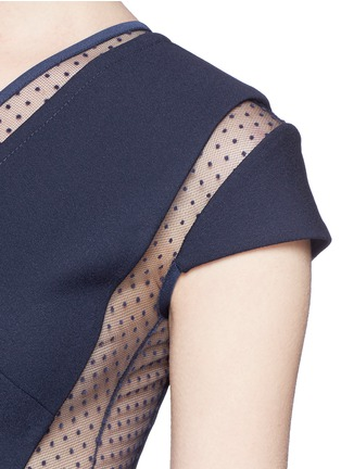 Detail View - Click To Enlarge - Victoria Beckham - Plumetis insert compact crepe dress
