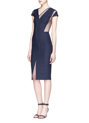Figure View - Click To Enlarge - Victoria Beckham - Plumetis insert compact crepe dress